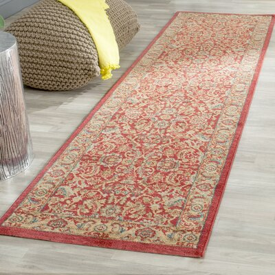 Coleraine Red Area Rug Rug Size: Rectangle 8 x 10