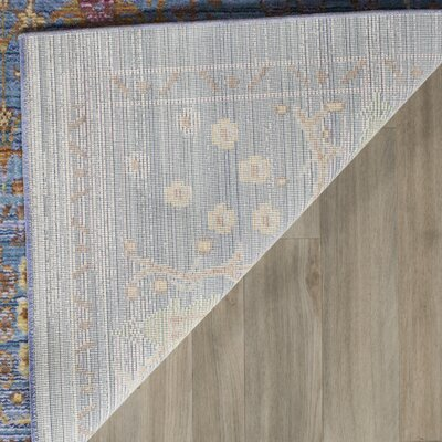 Misael Blue Area Rug Rug Size: Rectangle 6 x 9