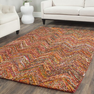 Sergio Hand-Tufted Multi Area Rug Rug Size: Square 8