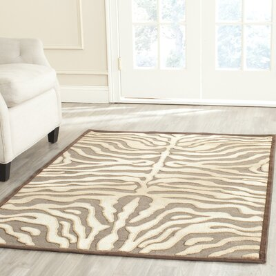Duran Mocha Area Rug Rug Size: Rectangle 53 x 76
