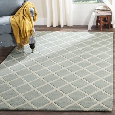 Wilkin Hand-Tufted Gray/Ivory Area Rug Rug Size: Rectangle 5 x 8