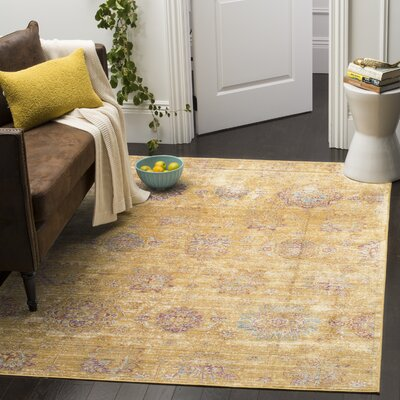 Sasha Gold Area Rug Rug Size: Rectangle 96 x 13