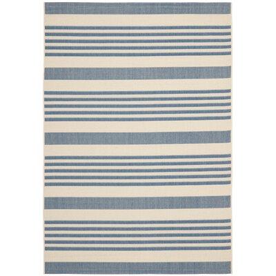 Kirts Blue/Beige Indoor/Outdoor Area Rug Rug Size: Rectangle 53 x 77