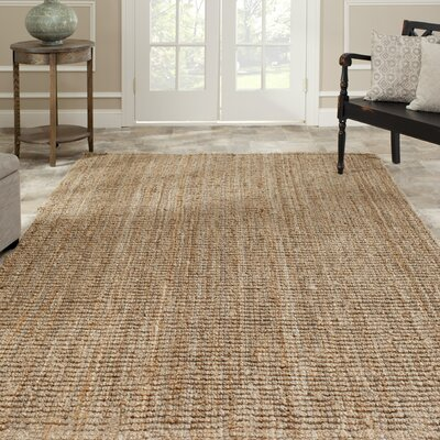 Gaines Hand-Woven Natural Beige Area Rug