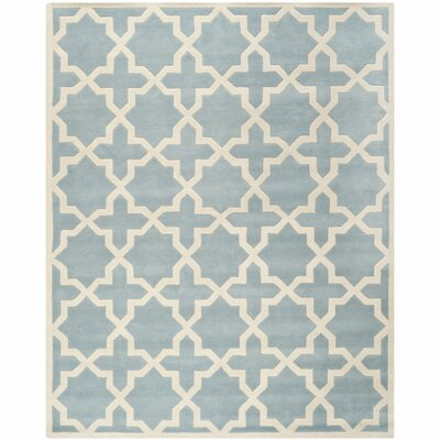 Wilkin Hand-Tufted Blue/Ivory Area Rug Rug Size: Rectangle 6 x 9