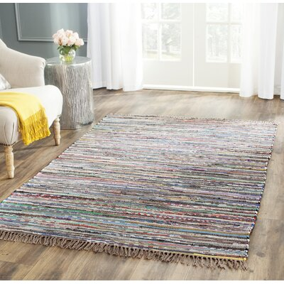 Hatteras Contemporary Hand-Woven Grey/Red/Green Area Rug Rug Size: Square 6