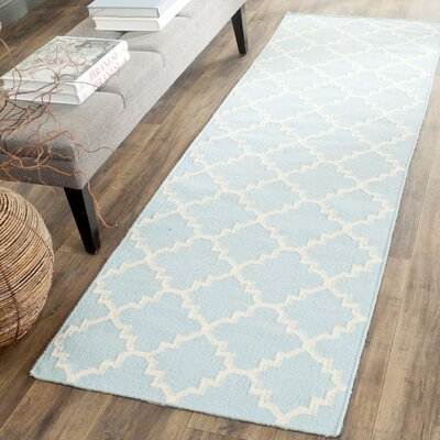 Danbury Light Blue & Ivory Area Rug Rug Size: 9 x 12