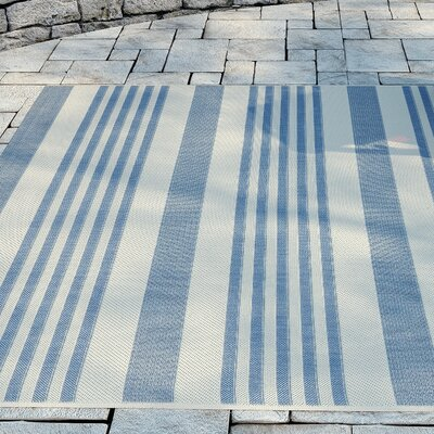 Kirts Blue/Beige Indoor/Outdoor Area Rug Rug Size: Square 53