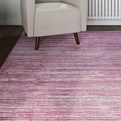 Harloe Purple Area Rug Rug Size: Rectangle 9 x 12