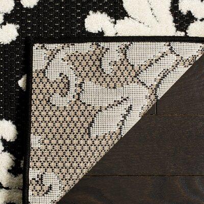 Bryan Black/Cream Indoor/Outdoor Area Rug Rug Size: Rectangle 8 x 112