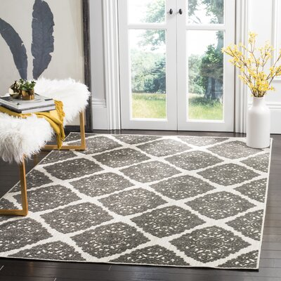 Mannox Cream/Gray Indoor/Outdoor Area Rug Rug Size: Rectangle 9 x 12