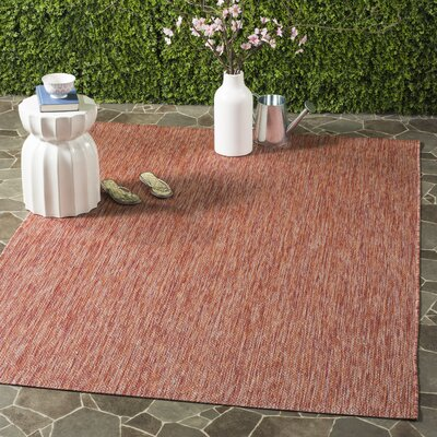 Adelia Red Indoor/Outdoor Area Rug Rug Size: Rectangle 9 x 12