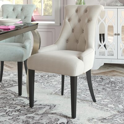 Allensby Upholstered Dining Chair Upholstery: Taupe