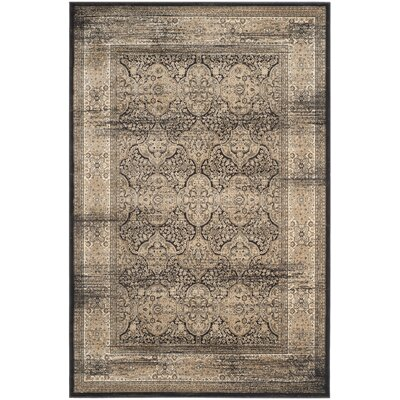 Mainville Black Area Rug Rug Size: Rectangle 67 x 92