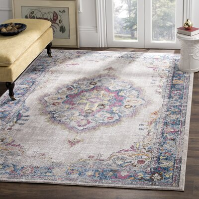 Fitzhugh Light Gray/Blue Area Rug Rug Size: Rectangle 51 x 76