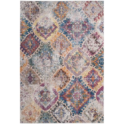Lusulu Blue/Light Gray Area Rug Rug Size: Square 7