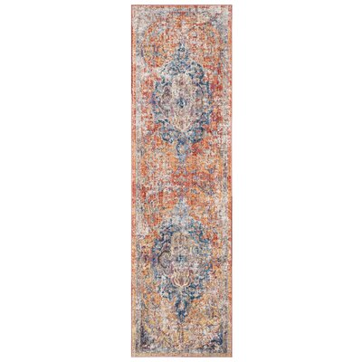 Arapaho Blue/Orange Area Rug Rug Size: Runner 23 x 12