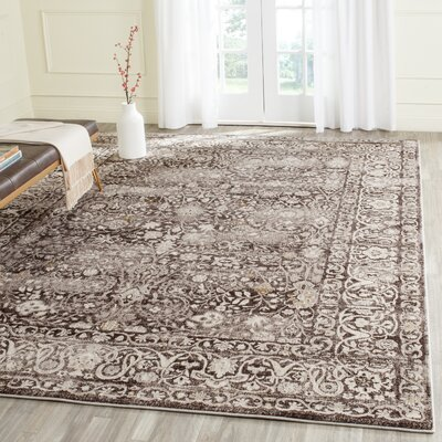Watts Brown/Cream Area Rug Rug Size: Rectangle 51 x 76