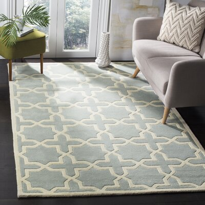 Wilkin Hand-Woven Gray Area Rug Rug Size: Rectangle 4 x 6