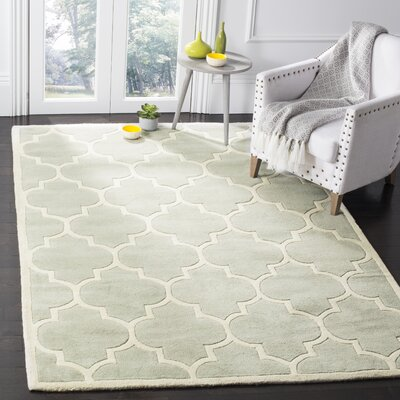 Wilkin Hand-Tufted Gray/Ivory Area Rug Rug Size: Rectangle 6 x 9