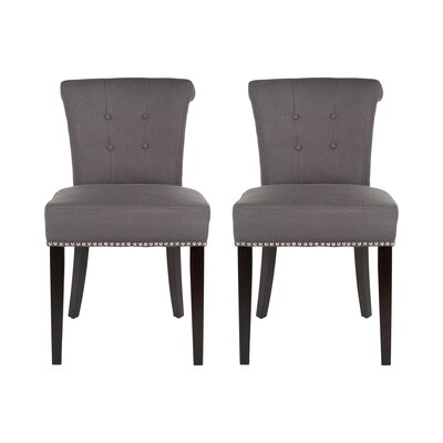 Florentine Side Chair Upholstery: Ellie Grey