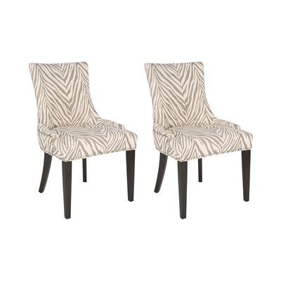 Lester Side Chair Upholstery: Grey Zebra