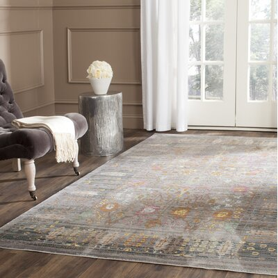 Bernardyn Gray/Multi Area Rug Rug Size: Rectangle 4 x 6