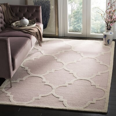 Charlenne Trellis Light Pink & Ivory Area Rug Rug Size: Rectangle 2 x 3