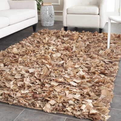 Carrol Hand-Tufted Brown Area Rug Rug Size: Rectangle 6 x 9