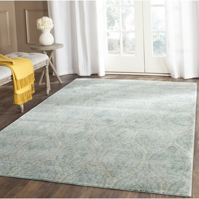 Longeville Bright Alpine/Cream Area Rug Rug Size: Rectangle 8 x 10