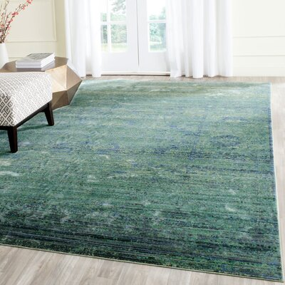 Celeta Green Area Rug Rug Size: Rectangle 3 x 5