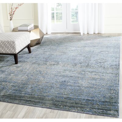 Shane Blue Area Rug Rug Size: Rectangle 4 x 6