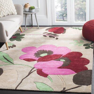 Cruz Hand-Woven Wool Sand Area Rug Rug Size: Rectangle 4 x 6