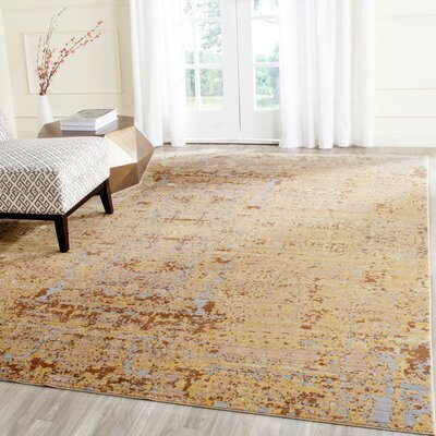 Shelby Gold Area Rug Rug Size: Rectangle 4 x 6