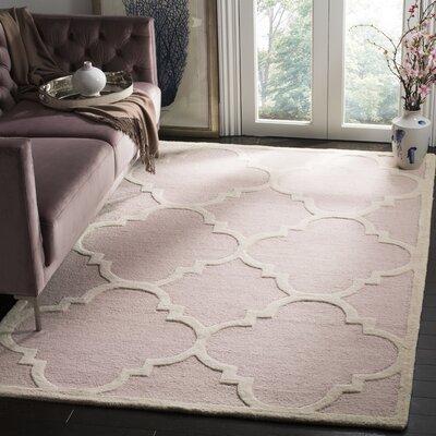 Charlenne Trellis Light Pink & Ivory Area Rug Rug Size: Rectangle 5 x 8