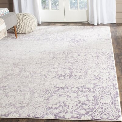 Auguste Lavander/Ivory Area Rug Rug Size: Rectangle 5'1