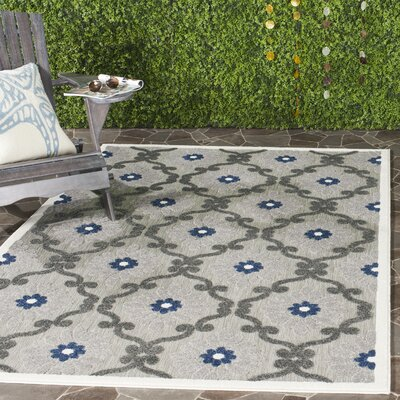 Salesville Gray/Silver Indoor/Outdoor Area Rug Rug Size: Rectangle 53 x 77