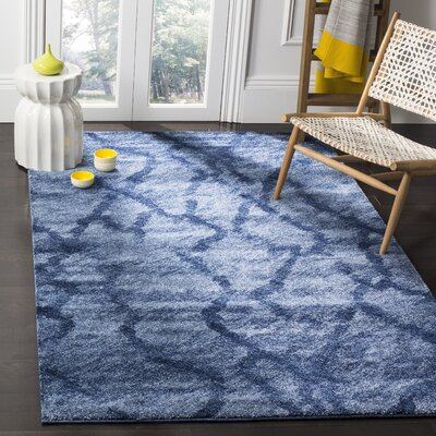 Tenth Avenue Dark Blue Area Rug Rug Size: Rectangle 4 x 6