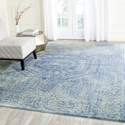 Doline Blue Area Rug Rug Size: Rectangle 3 x 5