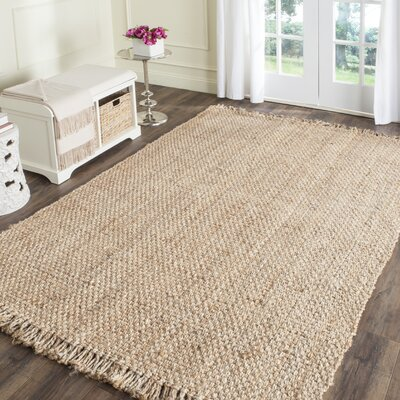 Elizabeth Hand-Woven Beige Area Rug Rug Size: Rectangle 4 x 6