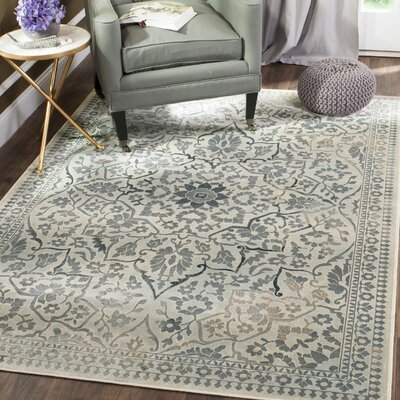 Malakoff Cream/Light Blue Area Rug Rug Size: Rectangle 8 x 112