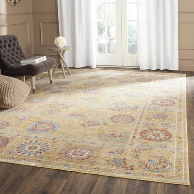 Shelby Gold Area Rug Rug Size: Rectangle 4 x 57