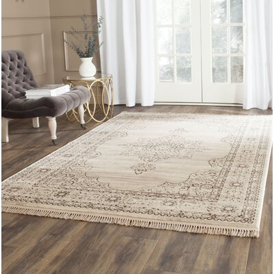 Balon Cream/Gold Area Rug Rug Size: Rectangle 4 x 6
