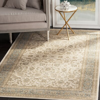Vintage Ivory  Area Rug Rug Size: Rectangle 4 x 57