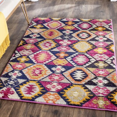 Haywood Yellow/Pink Area Rug Rug Size: Rectangle 3 x 5