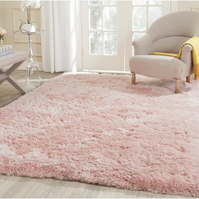 Dax Shag Hand-Tufted Pink Area Rug Rug Size: Rectangle 4 x 6