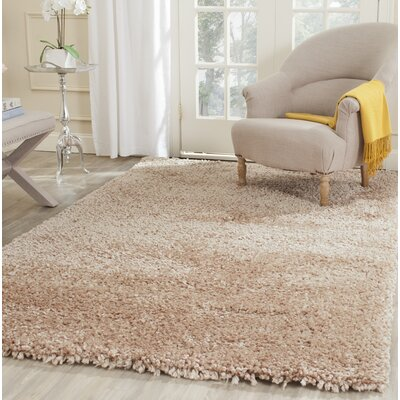 Bellar Shag Beige Area Rug Rug Size: Rectangle 2 x 3