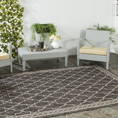 Rockbridge Black/Beige Indoor/Outdoor Area Rug Rug Size: Rectangle 8 x 11