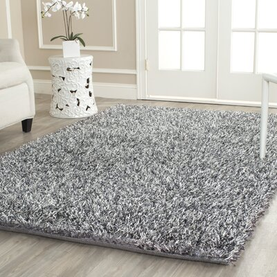 Delmon Platinum/Ivory Area Rug Rug Size: Rectangle 5 x 8