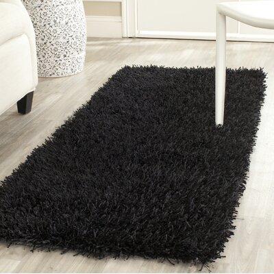 Paris Handmade Black Area Rug Rug Size: Rectangle 2 X 3
